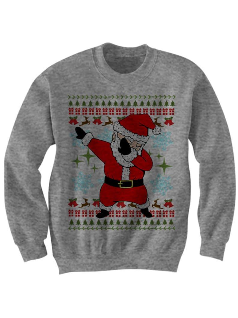 Kersttrui Dab.Santa Dabbin Kerst Trui Dab Trui Deppen Santa Dames Heren Etsy