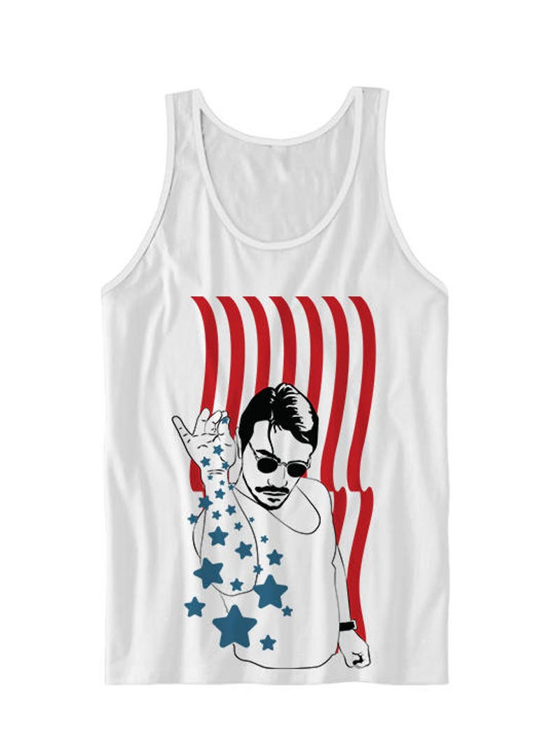 6fa4cbe22acc3e July 4th Tank Top Salt Bae USA Tank Top 4th Of July Tanks Red