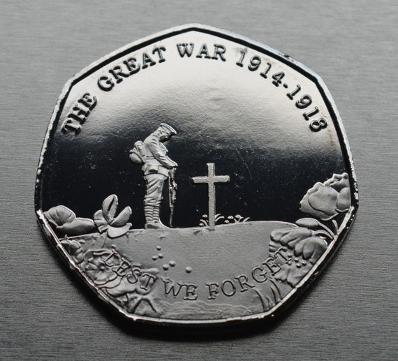 New Commemorative World War 1 Armistice//Remembrance Day Coin Lest We Forget WW1