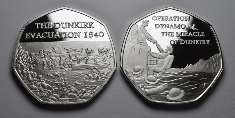 Operation Dynamo /'The Miracle of Dunkirk/' WW2 THE DUNKIRK EVACUATION 1940 Silver Commemorative