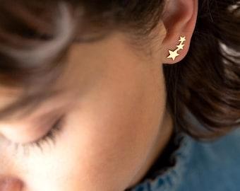 Shooting Star Sterling Silver Personalised Earrings