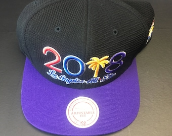 hot sale online 54b4f e8713 Mitchell and Ness 2018 Los Angeles Lakers NBA All Star Game Snapback Hat