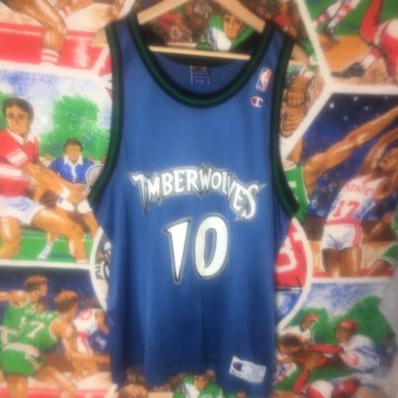 sale retailer 8f4bd e0463 Rare Vintage Mens XXL Size 52 Blue Minnesota Timberwolves Wally Szgzerbiak  NBA Champion Basketball Jersey