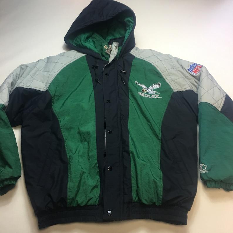 11ac0445 Vintage Mens Large Philadelphia Eagles Starter Winter Parka Jacket