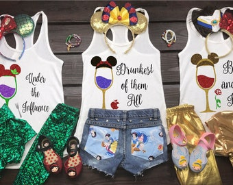 Food And Wine Shirt | Disney Princess Drinking Shirt  | Food And Wine Shirt Ideas | Epcot Food And Wine | Conquering The World | EPCOT