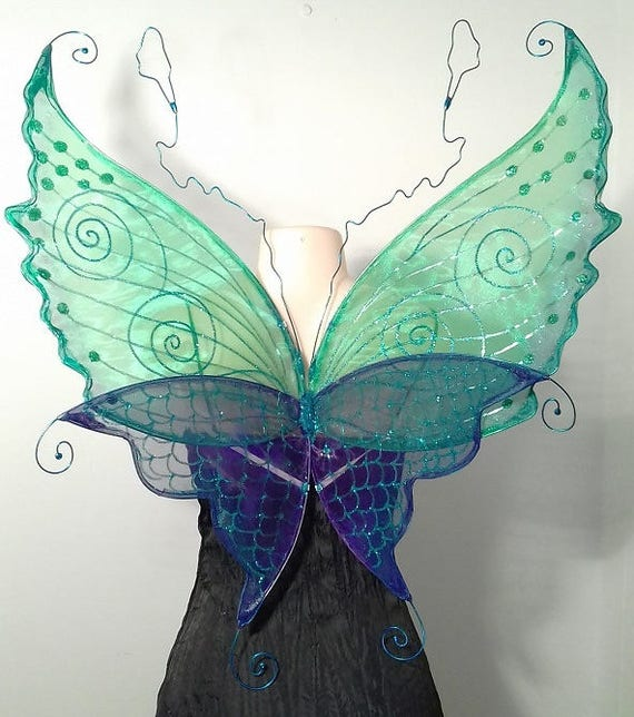Mermaid Water Nymph Fairy Wings for Adults - Faerie Mermaid Wings
