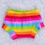 Bummies Shorties Diaper Cover Short Shorts Bloomers Baby Shorts Toddler Shorts Girls Shorts Rainbow Pastel Black White Grey Summer Spring