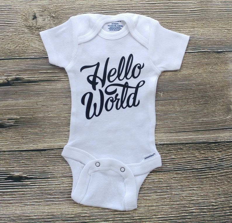 Hello World Newborn Outfit Hello World Outfit Girl Hello World image 0
