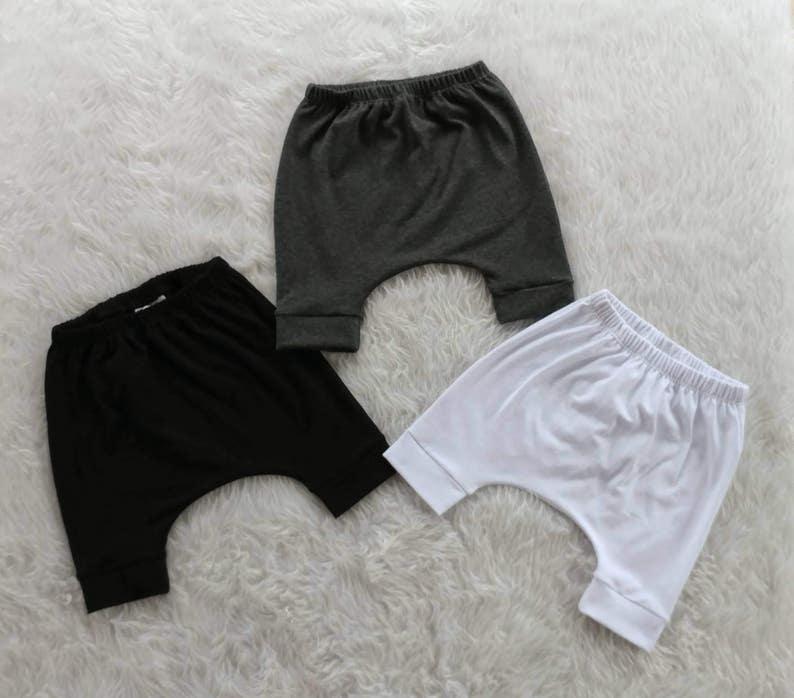 3/4 Length Drop Crotch Pants Baby Baggy Pants Toddler Grow image 0