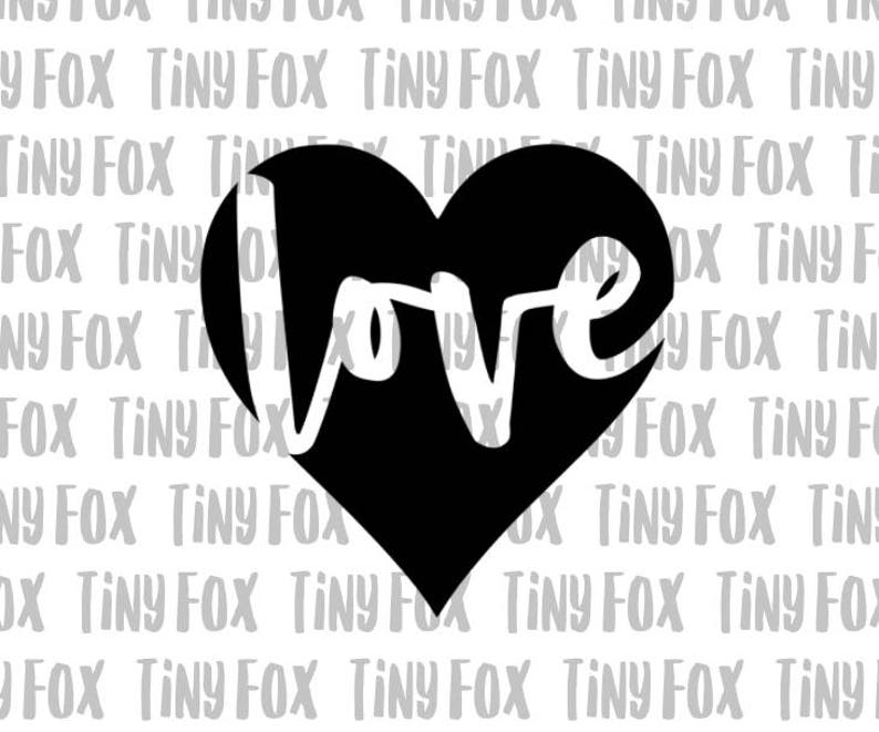 Love Heart SVG Cut File Silhouette Cameo Valentines Day image 0