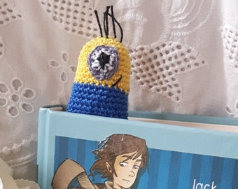 hand made- Bookmark crocheted minions