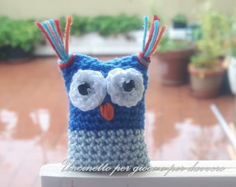 hand made- Bookmark crocheted owl