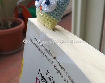 Segnalibro uncinetto gufo amigurumi - hand made- Bookmark crocheted