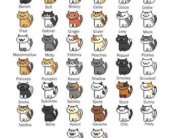 All 38 Neko Atsume Cross Stitch Patterns (Bundle!) (Updated!)