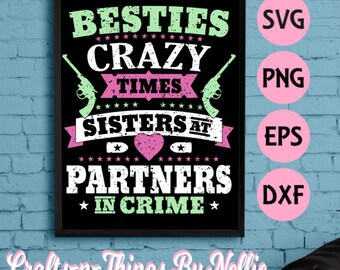 Partner in crime SVG- Distressed