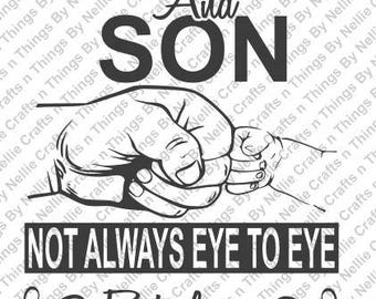 Daddy and Son SVG