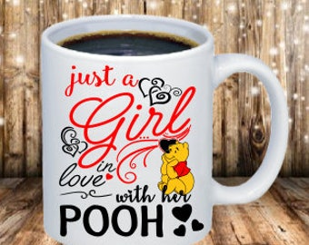 just a girl in love with her Pooh coffee mug