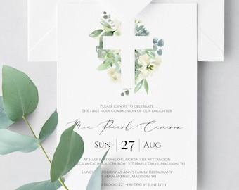 First communion invitation   Etsy