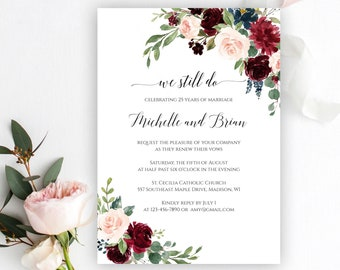 picture about Free Printable Vow Renewal Invitations named Renewal invitation Etsy
