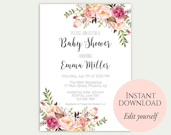 templates for baby showers