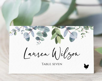 Wedding Place Card \u00a0calligraphy place card \u00a0calligraphy table card  place card  seating card  folded place card  wedding seating