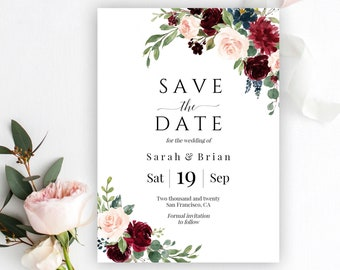 Save The Date Templates | Save The Date Template Etsy