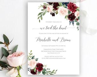 elopement reception invitation etsy
