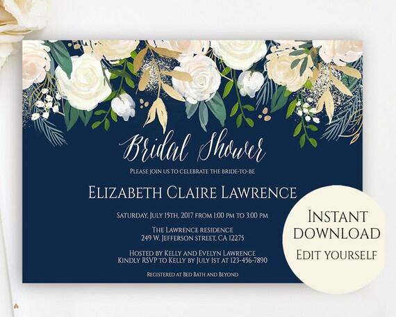 Bridal shower invitation template editable template bridal etsy image 0 filmwisefo