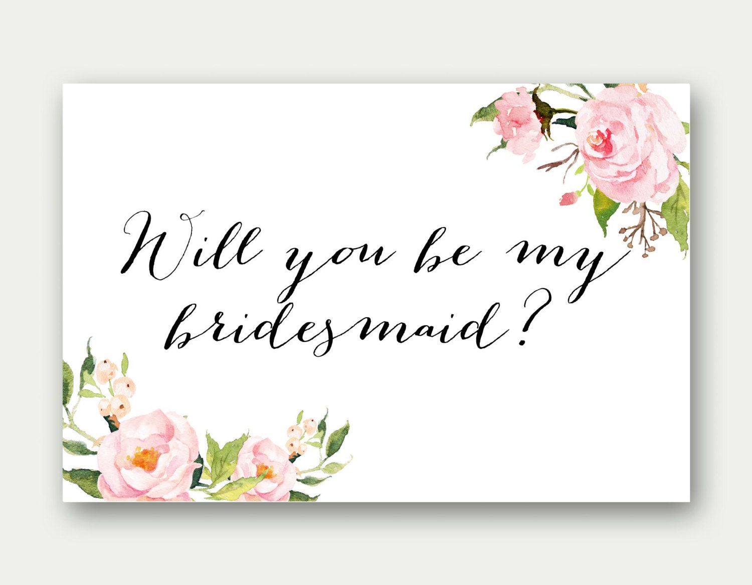 This is a graphic of Vibrant Bridesmaid Proposal Printable