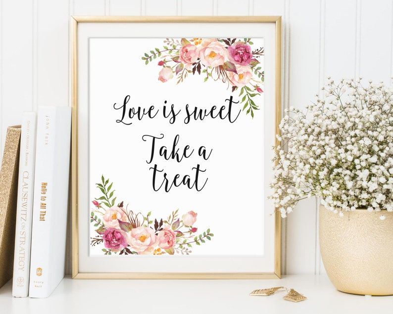 Love Is Sweet Take A Treat Love Is Sweet Sign Favor Table image 0