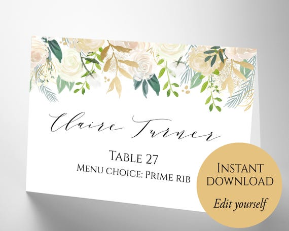 Place cards place cards wedding place card template pdf etsy image 0 solutioingenieria Images