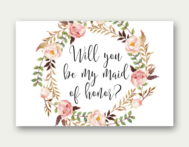 graphic regarding Will You Be My Maid of Honor Printable titled COMBO, Will By yourself Be My Maid Of Honor, Will On your own Be My Matron Of Honor, Will Yourself Be My Junior Bridesmaid, Will By yourself Be My Flower Female, Printable