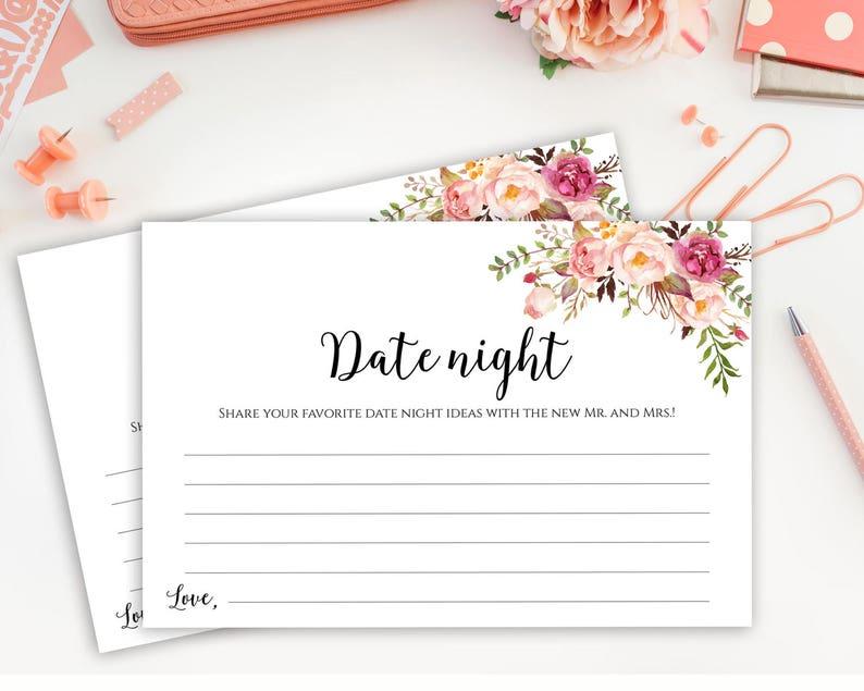Date Night Cards Date Night Idea Cards Wedding Date Night image 0