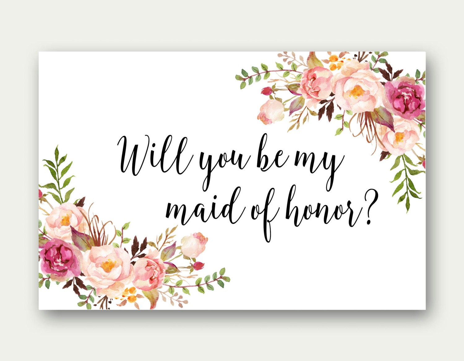 COMBO Will You Be My Maid Of Honor Will You Be My Matron