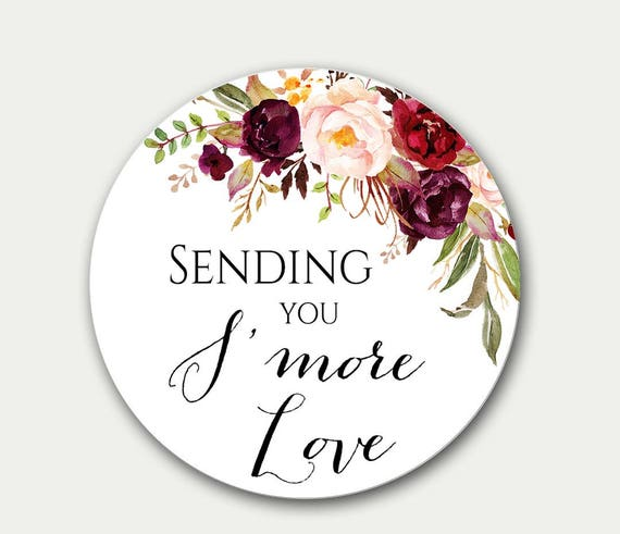sending you s more love wedding gift tag favor tag etsy