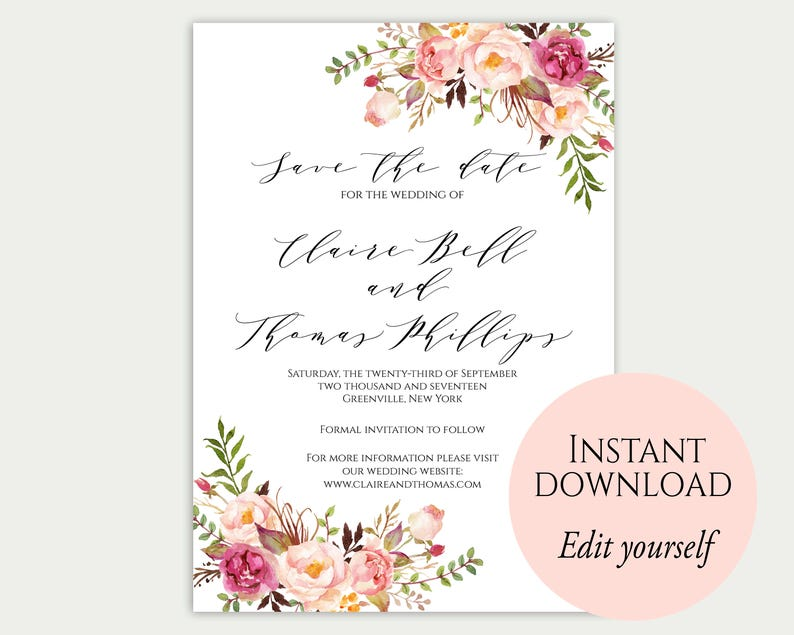 Save The Date Template Save The Date Cards Printable Save image 0