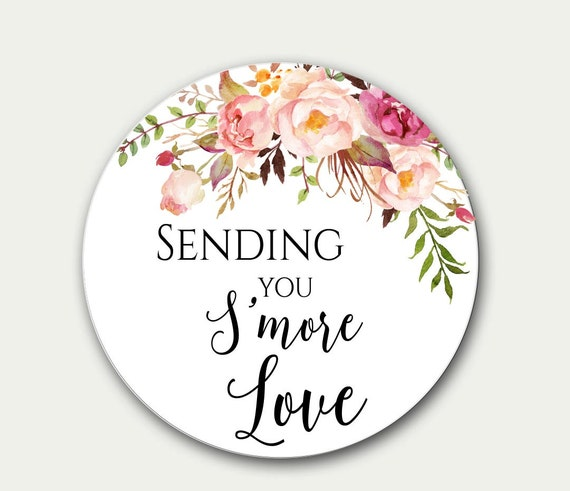 wedding gift tag sending you s more love favor tag etsy
