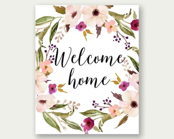 welcome home printable - Isken kaptanband co
