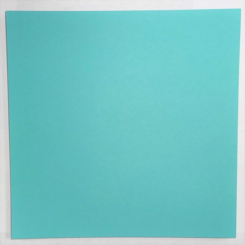 8x8 Aqua Marine Pack Cardstock Paper 65# Smooth Arts 6 Colors 24 Sheets
