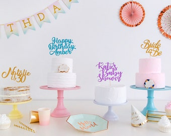 Custom Cake TopperCreate Your Own Text Any Phrase Party Decoration Birthday Topper Wedding Personalised