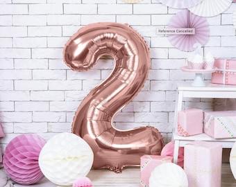 2nd Birthday Balloon Black Jumbo 2 Balloon Number 2 Balloon 2 Fast Balloon