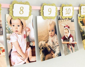 18 Years Old Birthday Photo BannerPink And Gold 21st 18th Yearly HangerParty DecorationsGirlBoy Custom