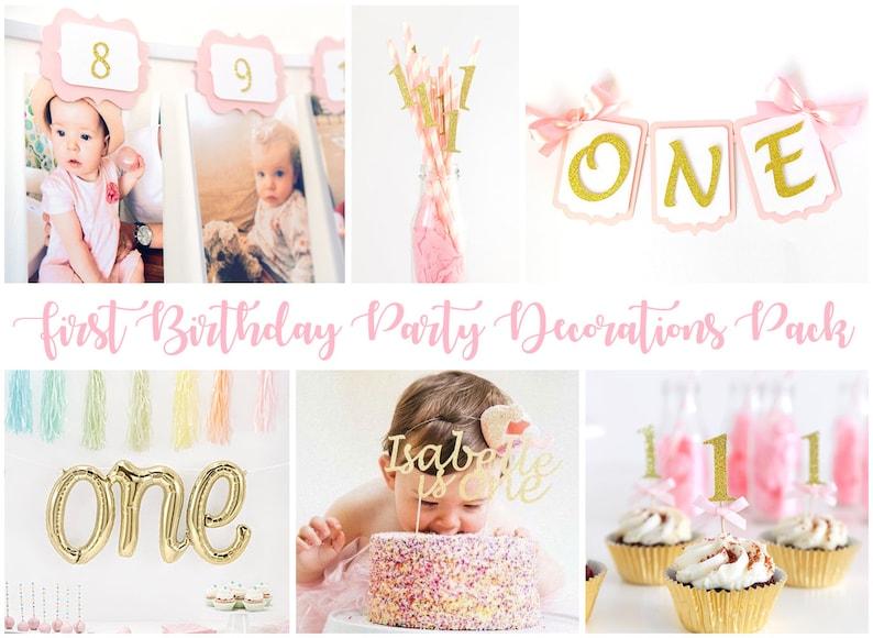Premier pack de décorations de fête d' anniversaire - Créatrice ETSY : InspiredbyAlma