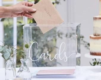 Wedding Acrylic Card Box // Wedding Card Holder // Wedding Cards // Wedding Guest Cards //Wedding Decorations // Card Box //Gift Cards