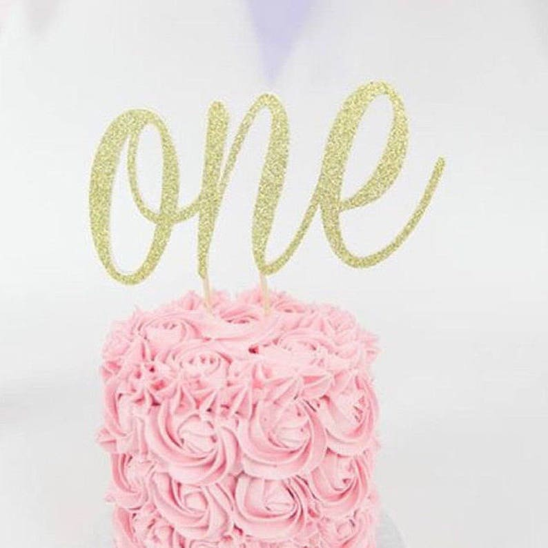 First Birthday Age One Cake Topper Party DecorationOne Year
