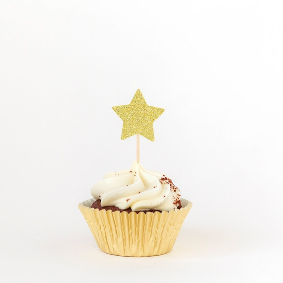 Twinkle Little Star Birthday Cupcake Toppers