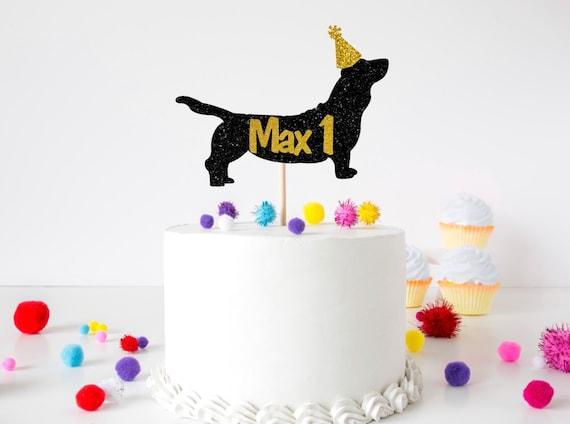 Awesome Sausage Dog Cake Topper Dachshund Birthday Party Animal Etsy Funny Birthday Cards Online Unhofree Goldxyz