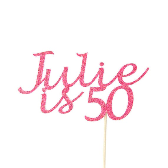 50th BIRTHDAY. CAKE TOPPER. 50th Birthday Ideas. Age And