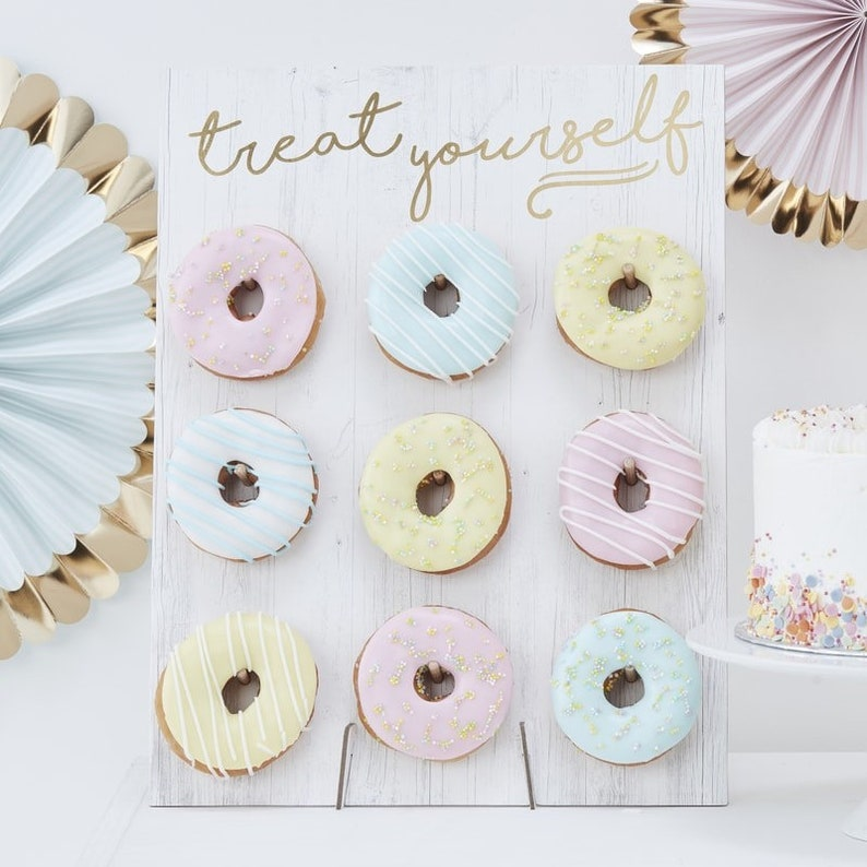 Treat Yourself Pastel Donut Wall Party Decoration Doughnut