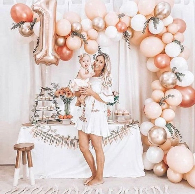 Kit ballons rose gold - Créatrice ETSY : InspiredbyAlma